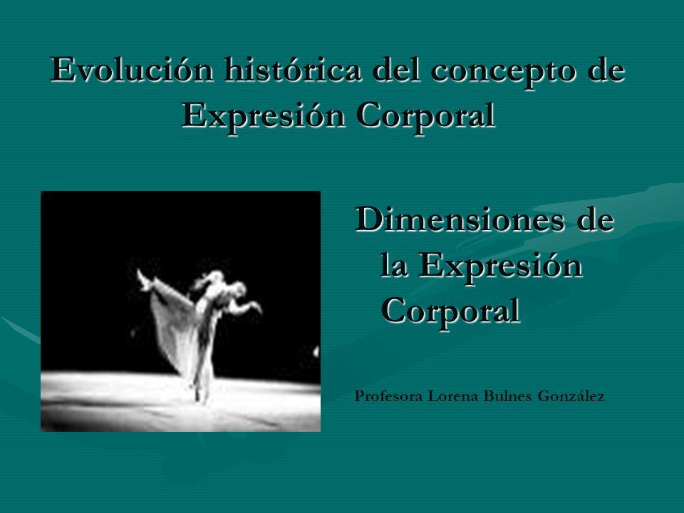 Evolución histórica del concepto de Expresión Corporal