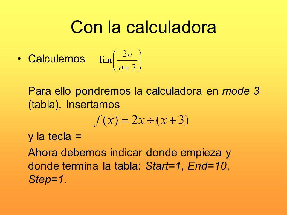 Con la calculadora Calculemos