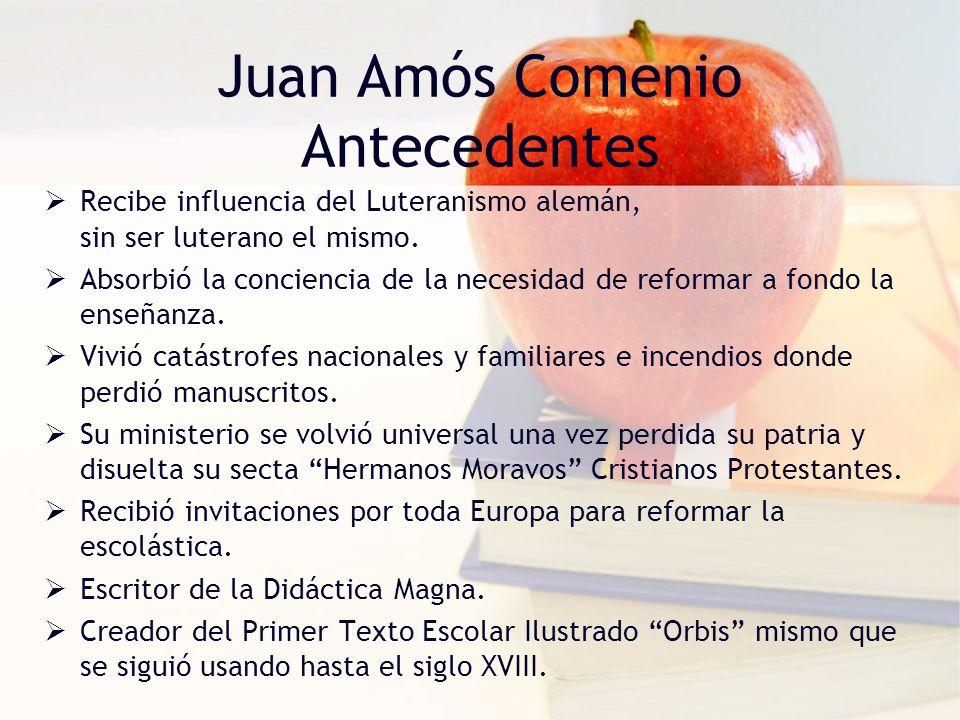 Juan Amós Comenio Antecedentes