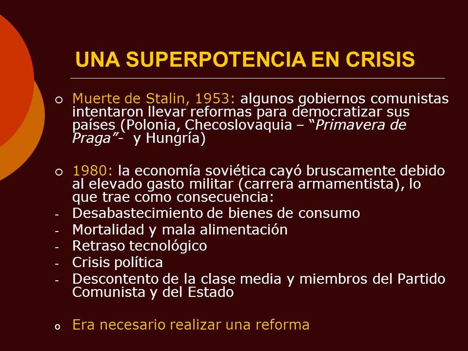 UNA SUPERPOTENCIA EN CRISIS