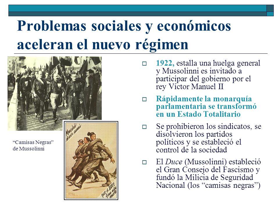 Problemas sociales y económicos aceleran el nuevo régimen