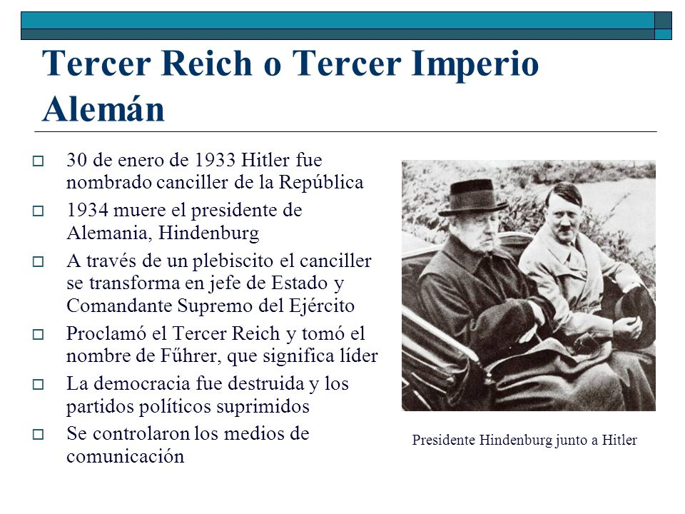 Tercer Reich o Tercer Imperio Alemán
