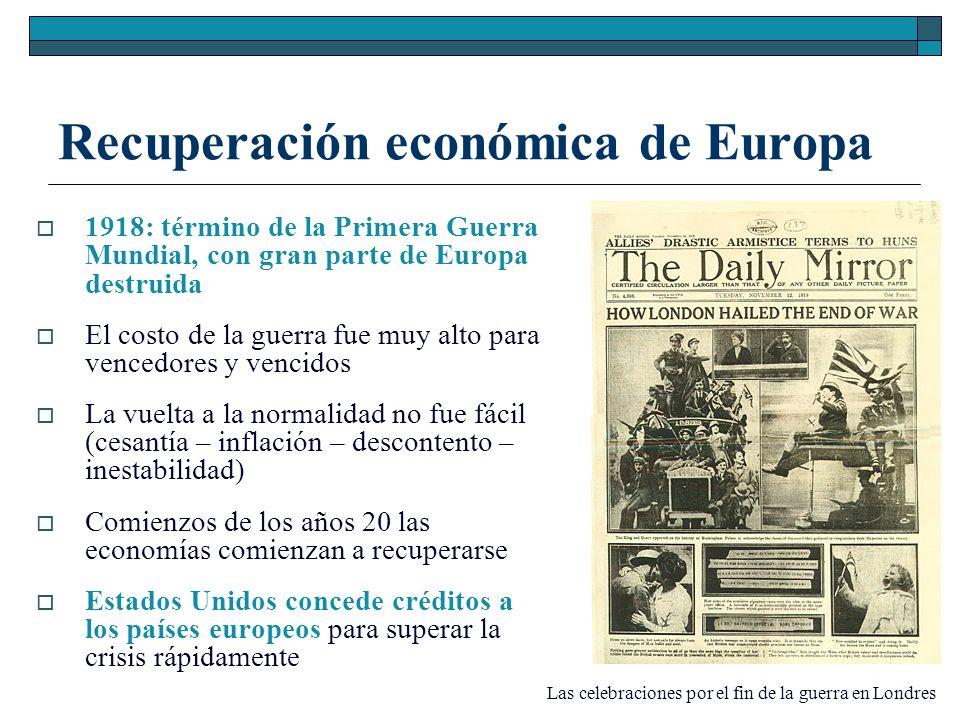 Recuperación económica de Europa