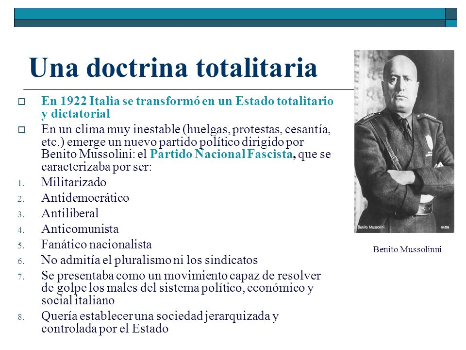Una doctrina totalitaria