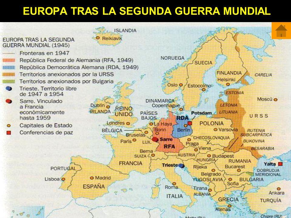 EUROPA TRAS LA SEGUNDA GUERRA MUNDIAL