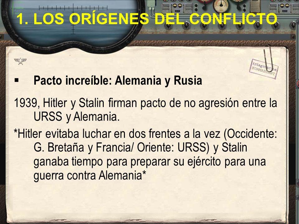 1. LOS ORÍGENES DEL CONFLICTO