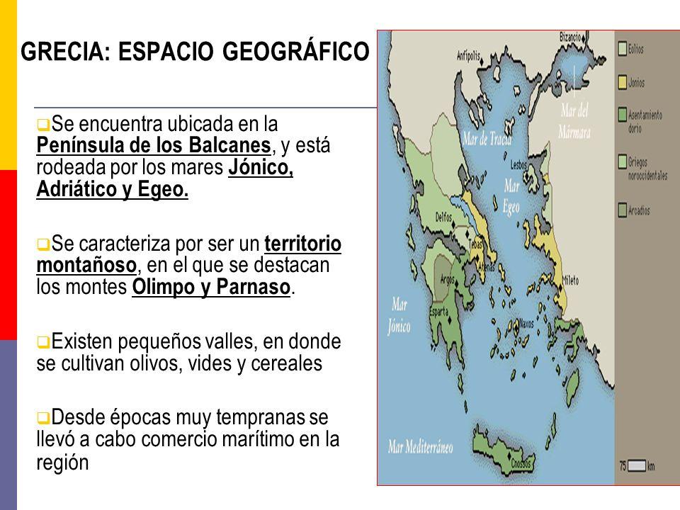 GRECIA: ESPACIO GEOGRÁFICO
