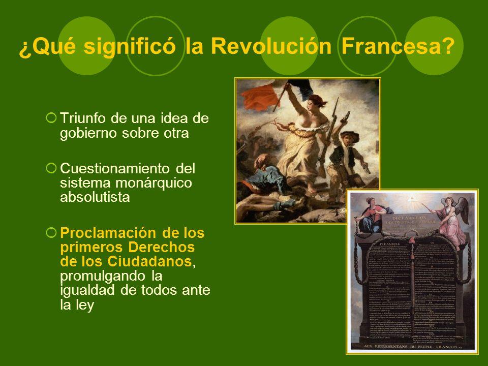 ¿Qué significó la Revolución Francesa