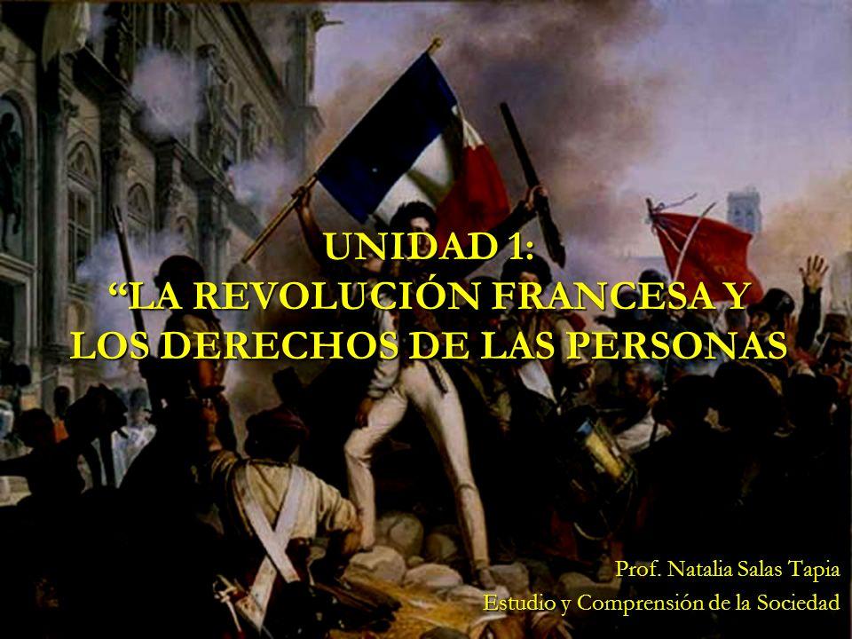 UNIDAD 1: LA REVOLUCIÓN FRANCESA Y LOS DERECHOS DE LAS PERSONAS