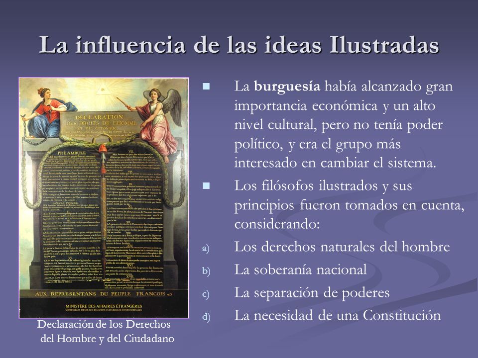 La influencia de las ideas Ilustradas