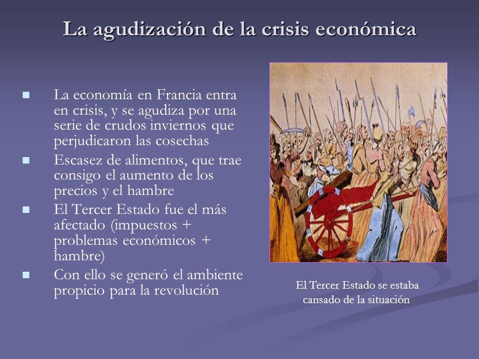 La agudización de la crisis económica