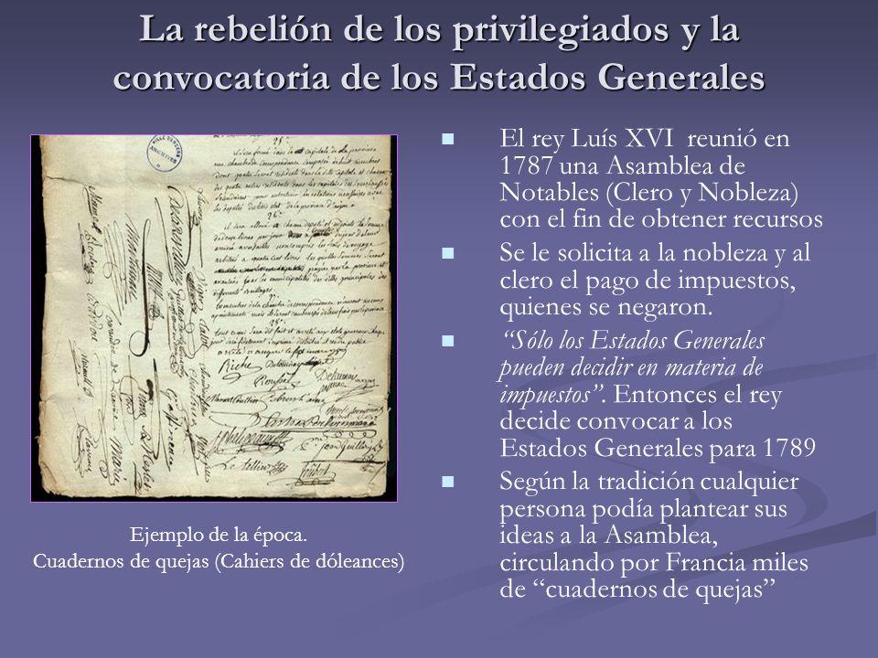 Cuadernos de quejas (Cahiers de dóleances)