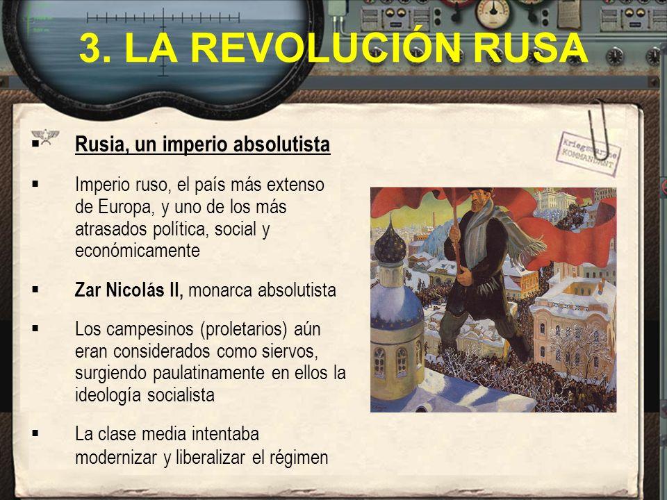 3. LA REVOLUCIÓN RUSA Rusia, un imperio absolutista