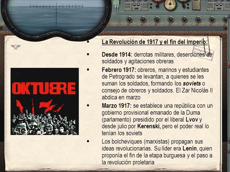 La Revolución de 1917 y el fin del Imperio: