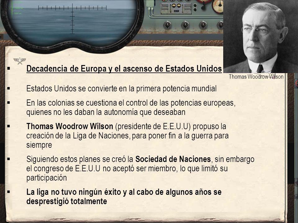 Decadencia de Europa y el ascenso de Estados Unidos
