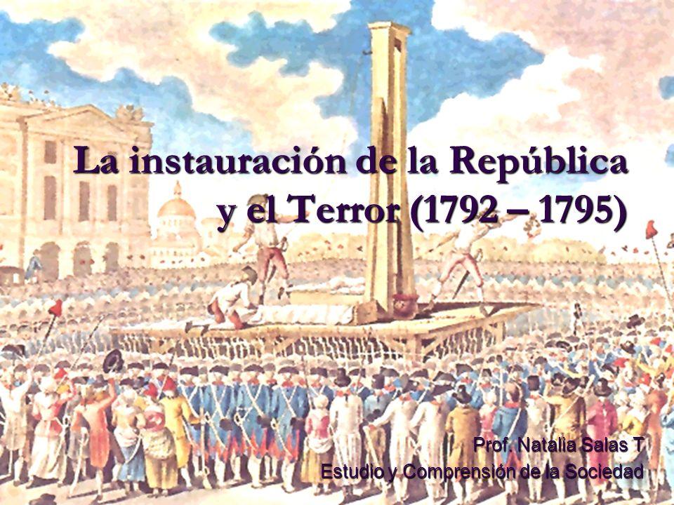 La instauración de la República y el Terror (1792 – 1795)