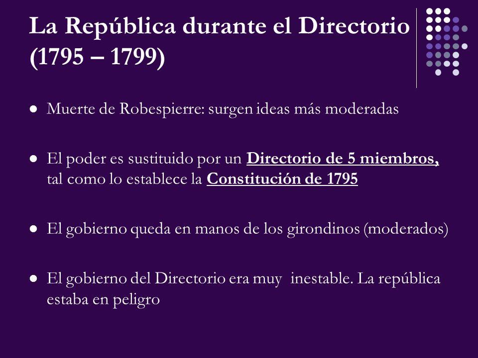 La República durante el Directorio (1795 – 1799)