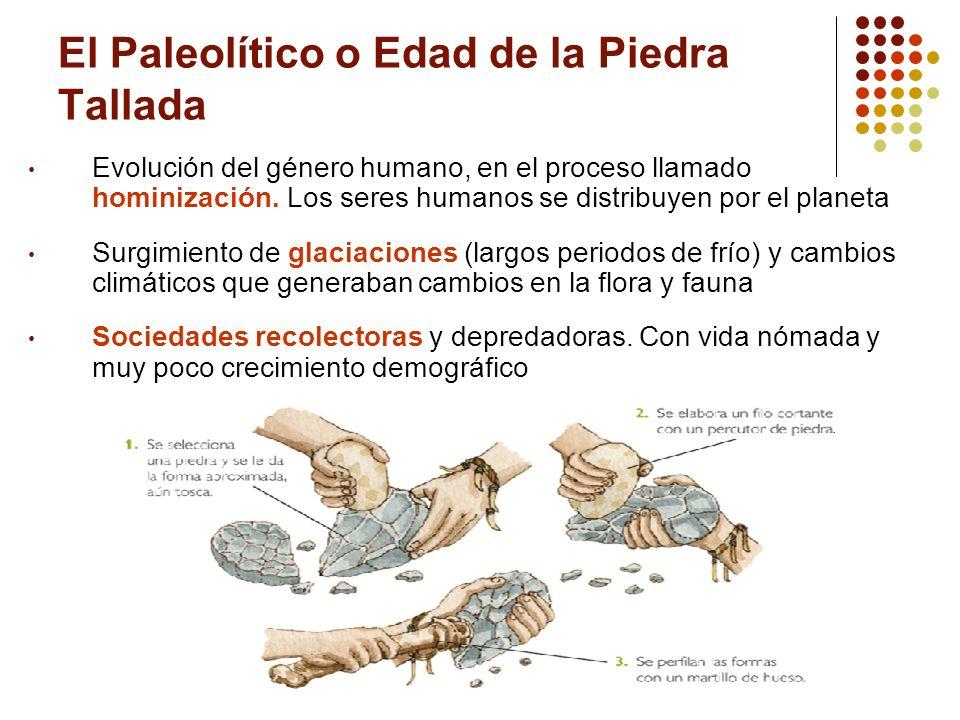 El Paleolítico o Edad de la Piedra Tallada