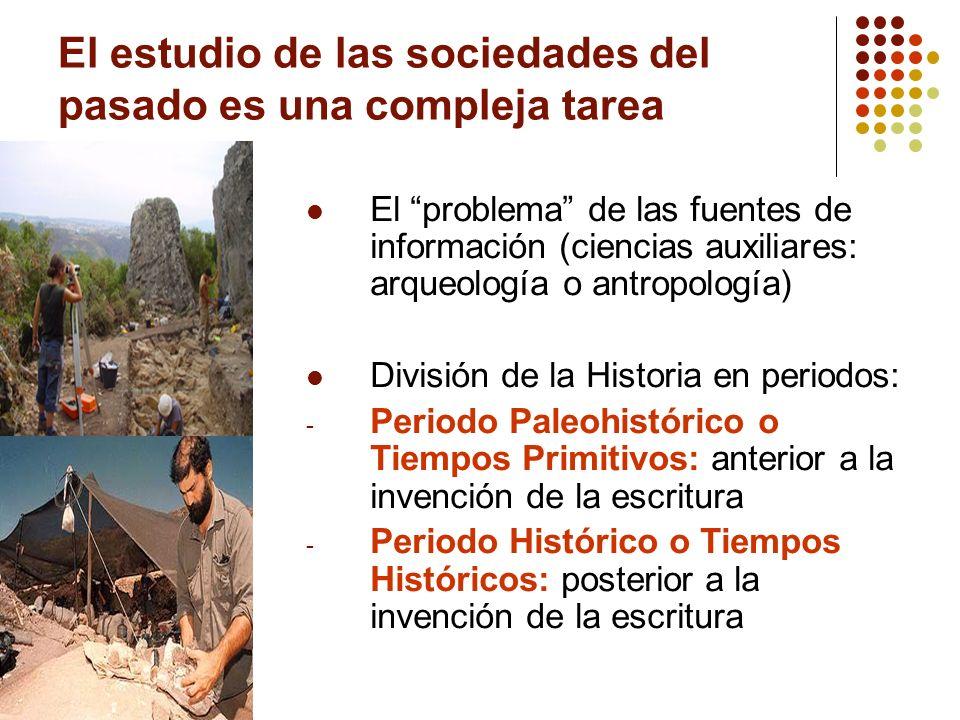 El estudio de las sociedades del pasado es una compleja tarea