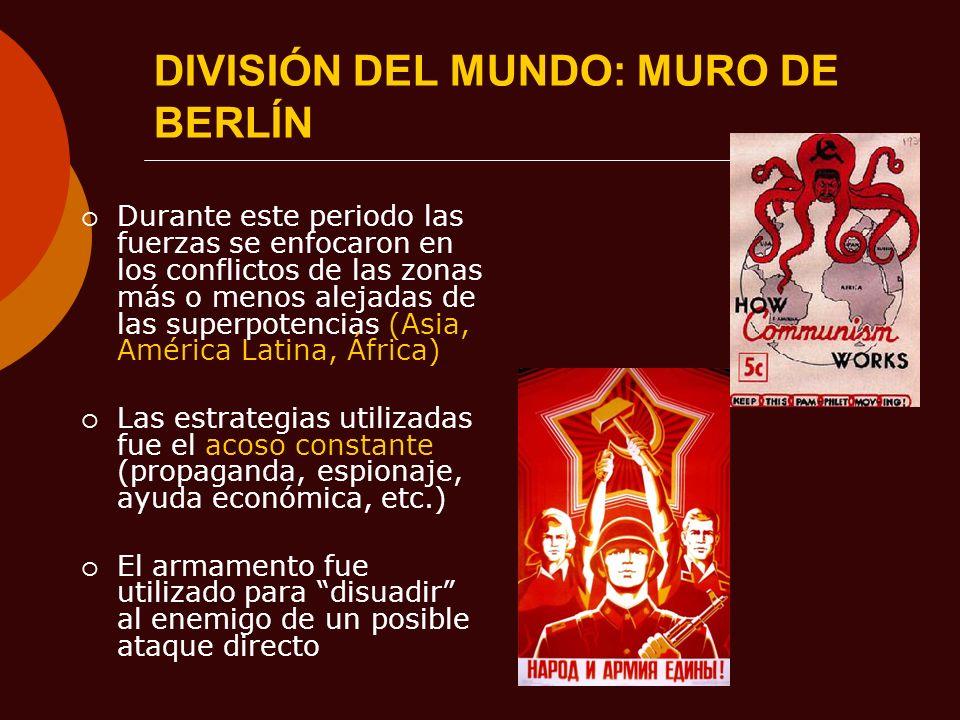 DIVISIÓN DEL MUNDO: MURO DE BERLÍN