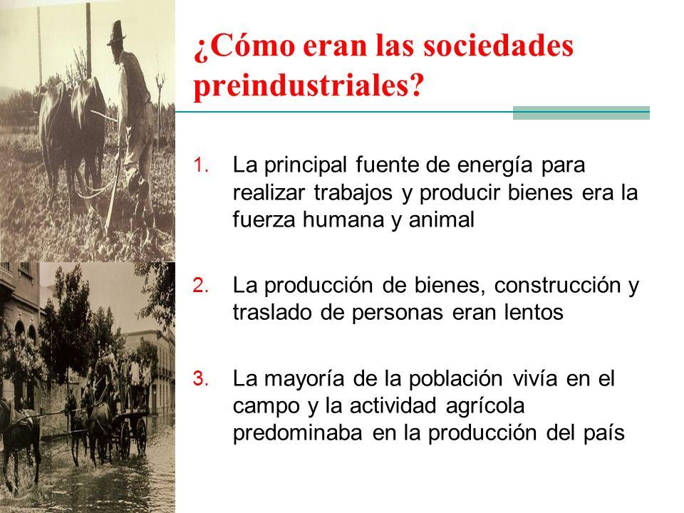 ¿Cómo eran las sociedades preindustriales