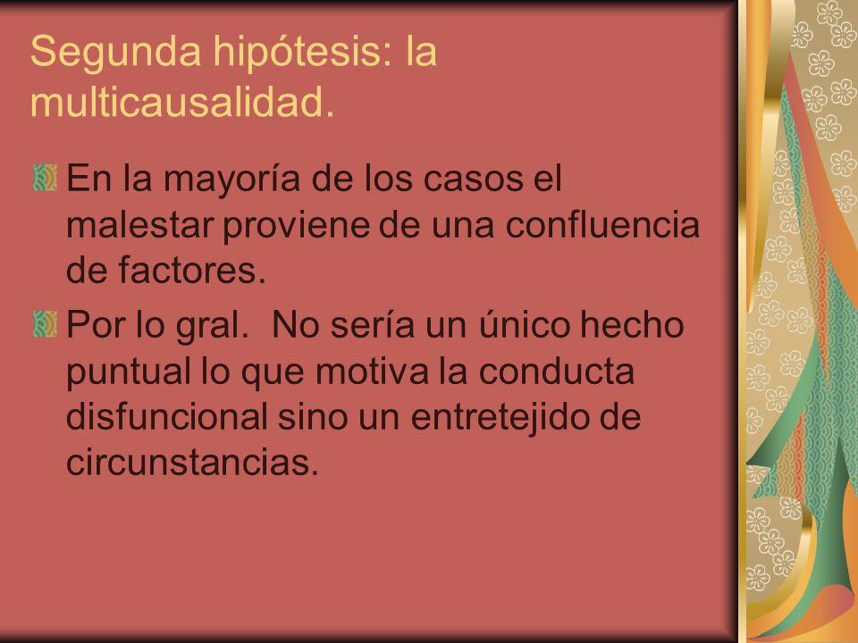 Segunda hipótesis: la multicausalidad.
