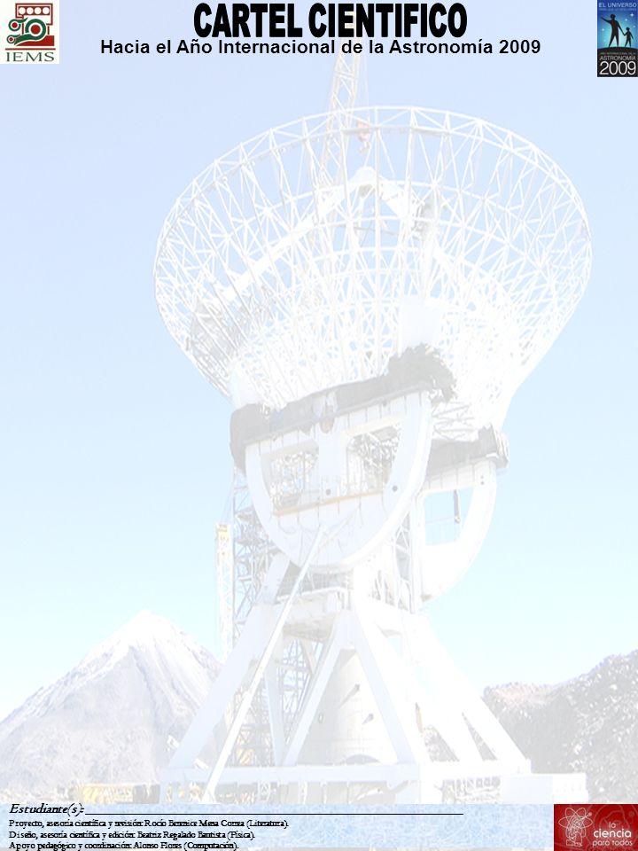 CARTEL CIENTIFICO Hacia el Año Internacional de la Astronomía 2009