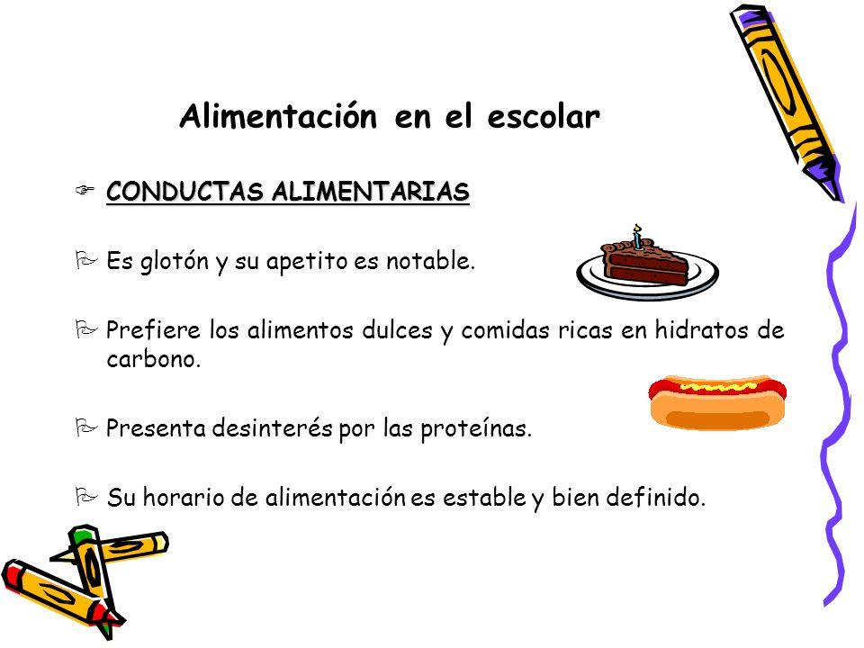 Alimentación en el escolar