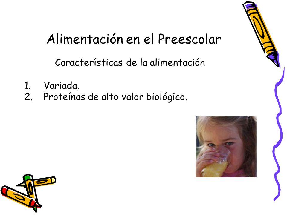 Alimentación en el Preescolar