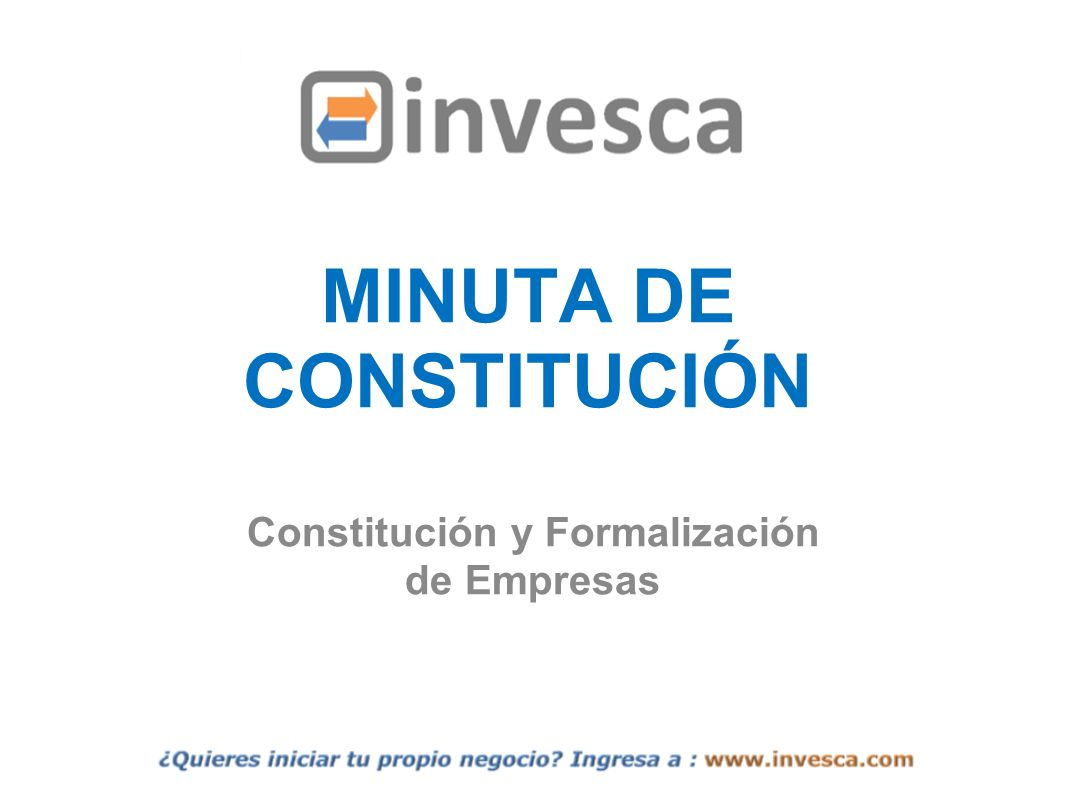 MINUTA DE CONSTITUCIÓN