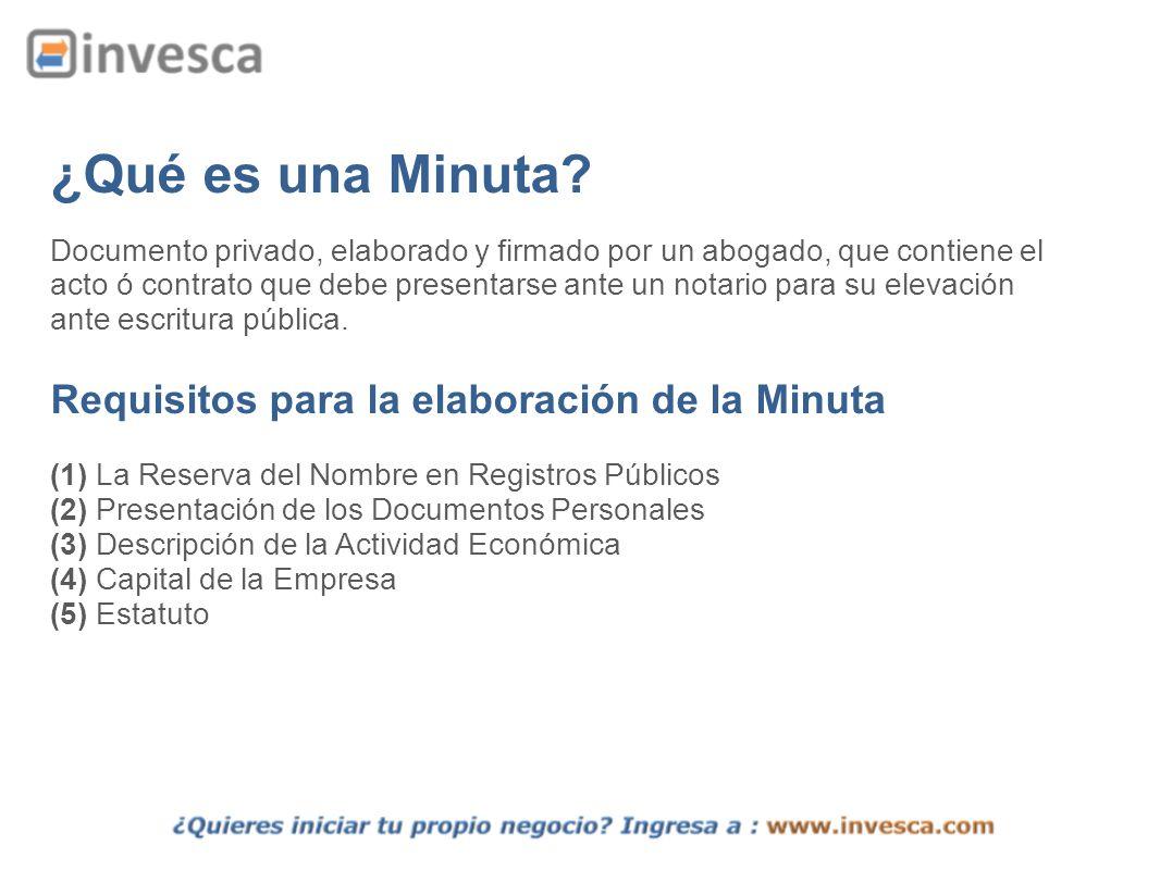 ¿Qué es una Minuta Requisitos para la elaboración de la Minuta
