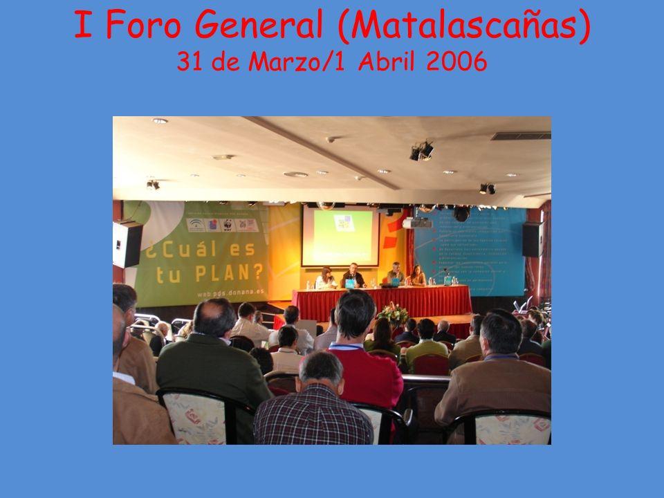 I Foro General (Matalascañas) 31 de Marzo/1 Abril 2006