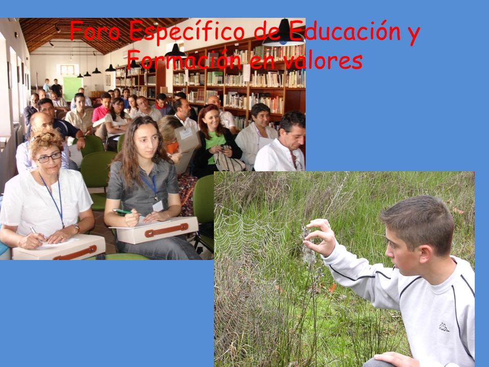 Foro Específico de Educación y Formación en valores