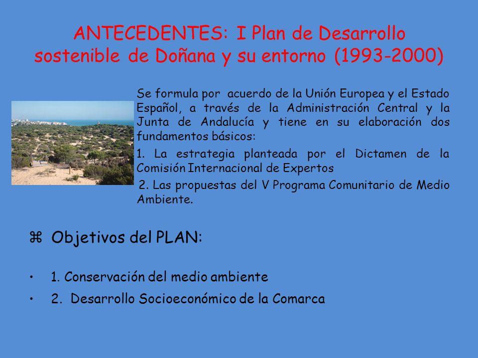 ANTECEDENTES: I Plan de Desarrollo sostenible de Doñana y su entorno (1993-2000)