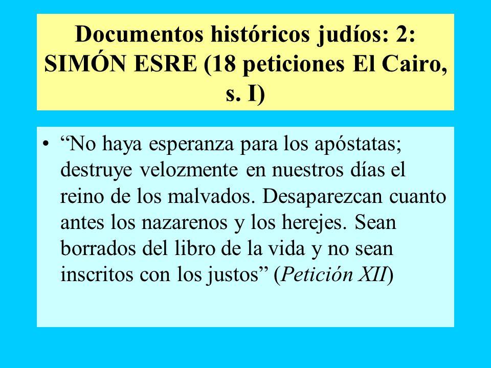 Documentos históricos judíos: 2: SIMÓN ESRE (18 peticiones El Cairo, s