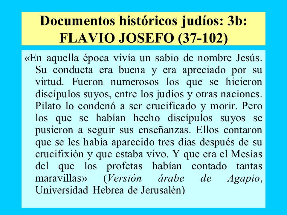 Documentos históricos judíos: 3b: FLAVIO JOSEFO (37-102)