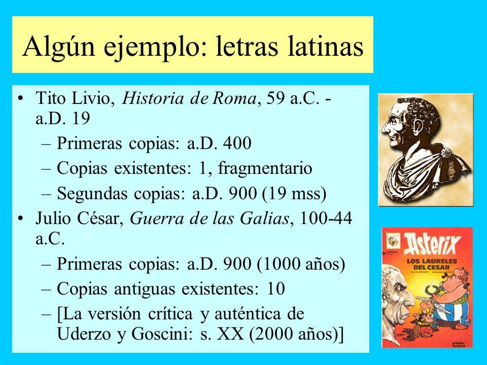 Algún ejemplo: letras latinas