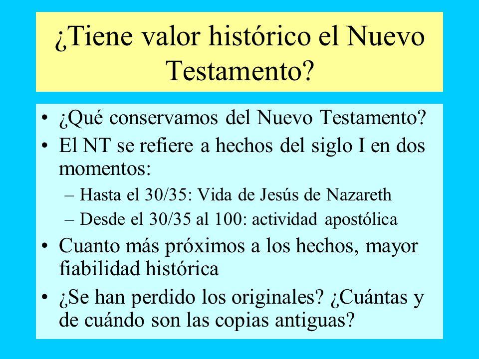 ¿Tiene valor histórico el Nuevo Testamento
