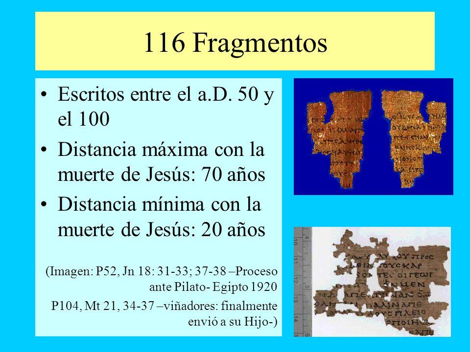 116 Fragmentos Escritos entre el a.D. 50 y el 100