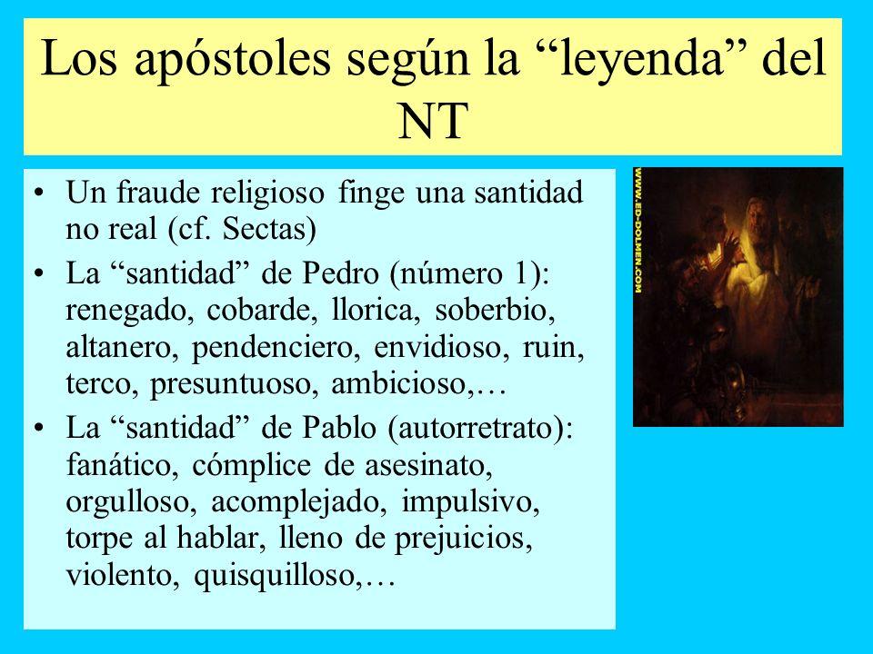 Los apóstoles según la leyenda del NT