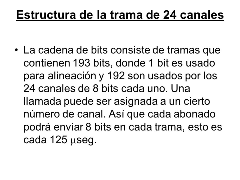 Estructura de la trama de 24 canales
