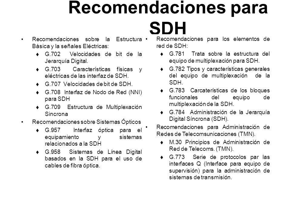 Recomendaciones para SDH
