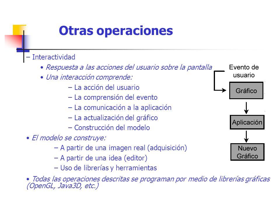 Otras operaciones – Interactividad