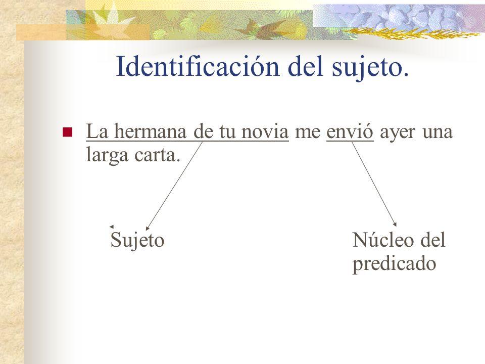 Identificación del sujeto.