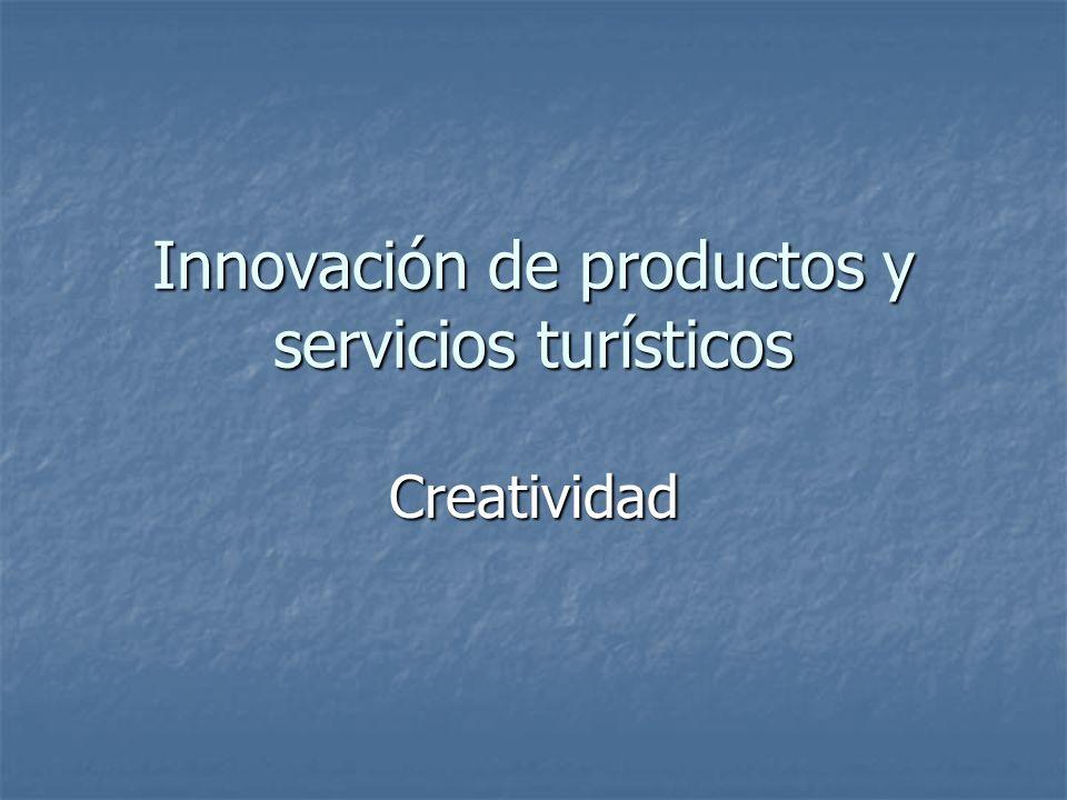 Innovación de productos y servicios turísticos