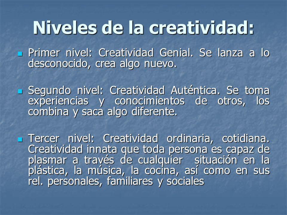 Niveles de la creatividad: