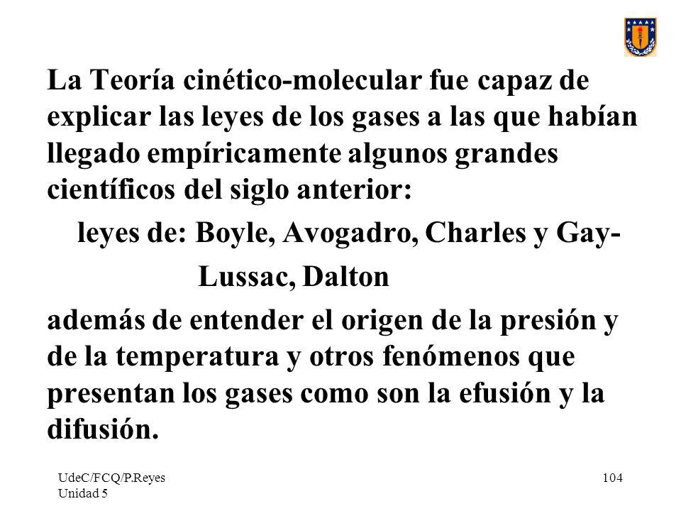 leyes de: Boyle, Avogadro, Charles y Gay- Lussac, Dalton