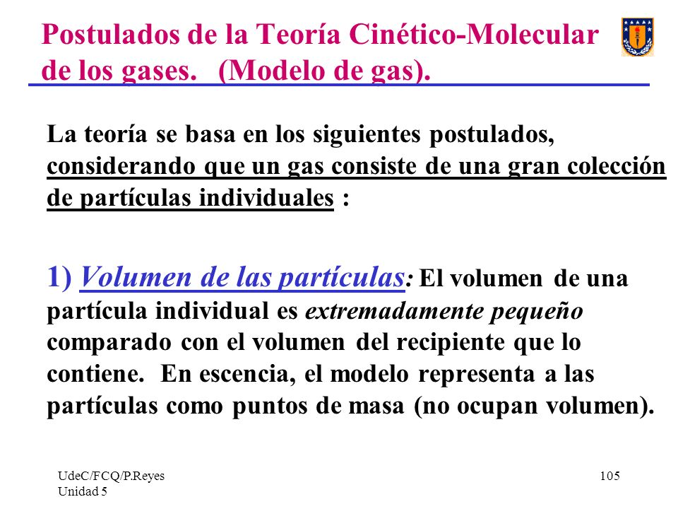 Postulados de la Teoría Cinético-Molecular de los gases