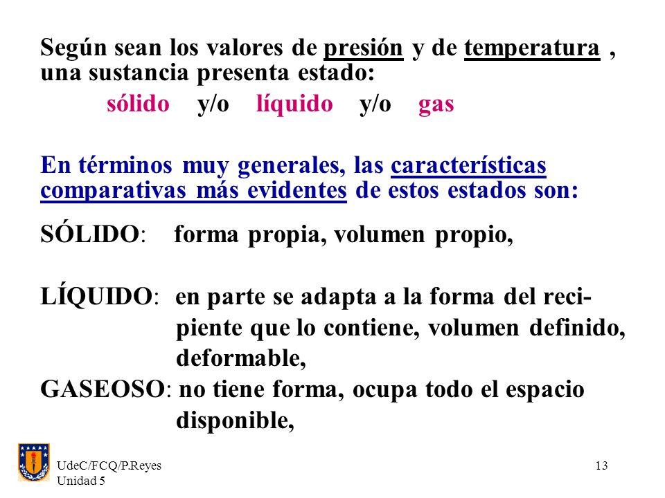 sólido y/o líquido y/o gas