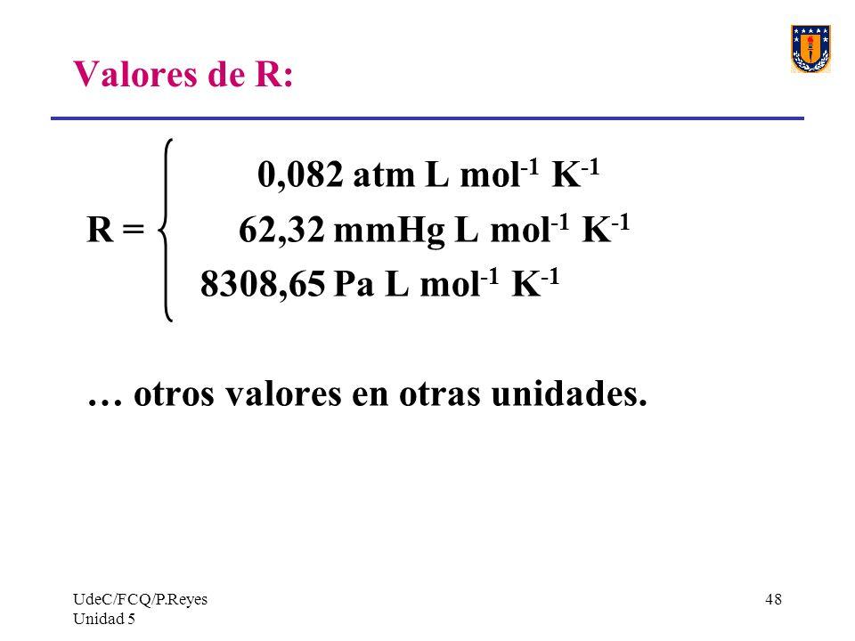… otros valores en otras unidades.